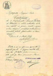 1º Documento attestante-idoneita a concorrere gli appalti 1914