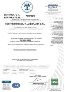 Certificazione RINA 2014 OK
